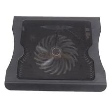 "USB LED Light 16"" Laptop PC Notebook Cooling Cooler One Fan Pad Stand Black"