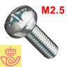 (lote 20pcs) Tornillo acero M2.5 10mm cabeza Philips (Arduino, prototipos, PCB)