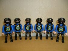PLAYMOBIL POLICE RIOT FIGURES (SWAT Team For Police car/Station)
