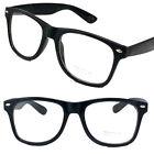 New Mens Women Clear Lens Cat Eye Black Frame Fashion Glasses Nerd Retro Eyewear