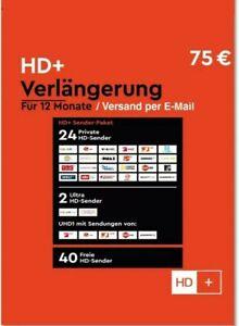 HD+ Plus Verlängerung 12 Monate für alle HD+ Karten