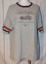 Harley Davidson Motor Cycles Benjy's Huntington Wv Gris Camiseta Manga Corta L