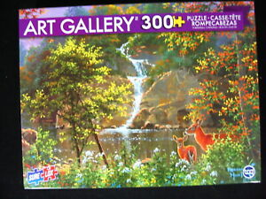 Discovering Nature Deer Mountains 300 Pc Jigsaw Puzzle Art Gallery 19 x 13 NEW