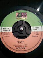 "Boney M Sunny Vinyl 7"" Single UK Atlantic K 10892 1977"