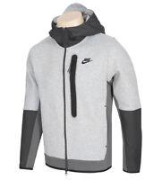 Nike Sportswear Men's Tech Fleece Woven Full-Zip Hoodie Jacket Gray CZ9905-063