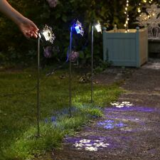 Outdoor Christmas Plug In Snowflake Stake LED Projector Garden Lights | Pathway
