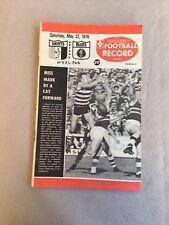 VFL Football Record 1976 St Kilda V Carlton