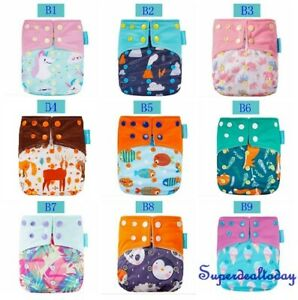 Happy Flute Baby Reusable Double Gusset One Size Cloth Nappy Diaper Cover