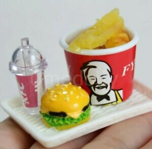 Doll House Accessories 1:12th Miniature Set 1 of KFC Meals