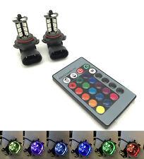 H7 H11 9006/HB4 RGB Colourchange LED foglight bulbs remote control 12v headlight