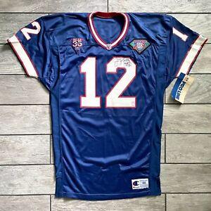 New! 1994 Champion NFL Authentic Jersey Buffalo Bills Jim Kelly Autograph Sz. 48