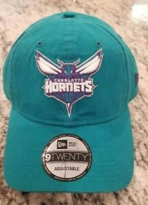 NEW NBA CHARLOTTE HORNETS NEW ERA 9TWENTY TEAL ADJUSTABLE STRAPBACK HAT CAP