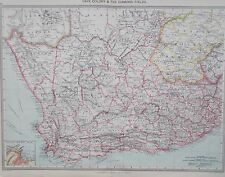 Map of South Africa & Diamond Fields. 1905. CAPE COLONY