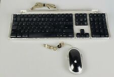 Apple Macintosh Pro Keyboard And Mouse M7803  M5769 Silver / Clear Both Tested