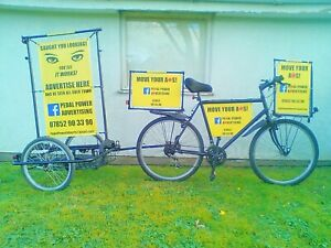 PEDAL POWER ADVERTISING ADBIKE BICYCLE ADVERTS PROMOTIONS MARKETING BUSINESS