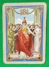 Playing Cards 1 Swap Card Antique 1916 Wide WORSHIPFUL Co. WAR BRITAIN'S EFFORT