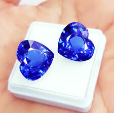 Loose Gemstone 8.00 to 10.00 cts Certified Heart Pair Natural Blue Sapphire