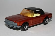 Matchbox Lesney Superfast #6 Mercedes 350SL,Met. Rosso ,Ambra Finestra,Top Nero