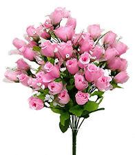 70 Mini Rose Buds ~ PINK ~ Silk Wedding Flowers Centerpieces Bridal Bouquet NEW
