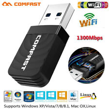 COMFAST Mini USB3.0 Wireless Network Card 1300Mbps Dual Band WiFi Dongle Adapter