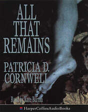 All That Remains by Patricia Cornwell (Audio cassette, 1995)