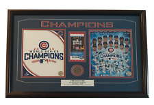 CHICAGO CUBS GAME 7 WORLD SERIES GAME USED DIRT / TICKET FRAMED CHAMPIONS 2016