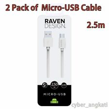 2 Raven Diseño Android Micro Usb X Para Cable Usb Para Tablet, Android, Samsung, Sony