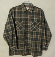 V6914 Penny's Towncraft Vintage 1970's Brown Plaid M 15-15.5 Button Up Shirt