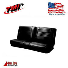 1967 Chevy Chevelle, Camino Front Bench Seat Upholstery Black Made in USA by TMI