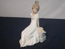 """NAO By Lladro #1430 """"Spring Has Come"""" Figurine w/Box. Spain. PERFECT."""