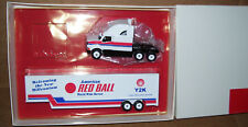 """1999 American Red Ball Movers Winross Diecast 48"""" Drop Bed Trailer Truck"""