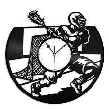 Lacrosse Vinyl Wall Clock Unique Gift for Sports Lovers Home Room Decoration