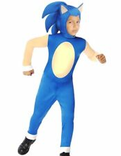 Sonic The Hedgehog Costume Boys Kids Child Deluxe -S 4-6, M 8-10, L 12-14 - Fast