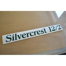 SILVERCREST Caravan Side Name & Model Number Sticker Decal Graphic - SINGLE