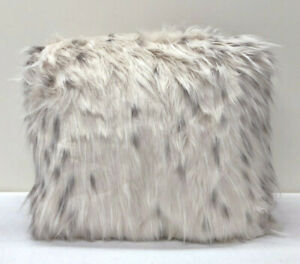 """NEW Pottery Barn TEEN Faux Fur LARGE 41"""" Beanbag Chair Slipcover Cover~SNOW CAT"""