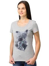 Cute Kitten Milange, Cool Cat t-shirt, Graphic T-shirt for Women, Size M