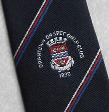 Vintage Golf Tie Mens Necktie Retro Sport Golfing Club Grantown On Spey
