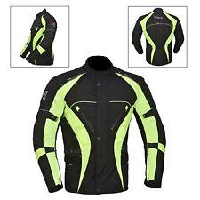 vert / noirs hommes veste moto imperméable TEXTILE CE renforcé