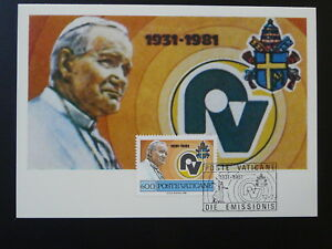 Pope John Paul II maximum card Vatican 84938