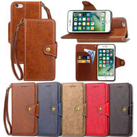 Luxury Retro Wallet PU Leather Case For Apple iphone5S 6 7 Plus Series Accessory