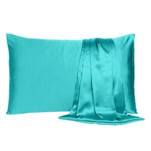 Pillowcase Queen King Standard Silk Satin Bedding Single Ultra Soft Pillow Cover
