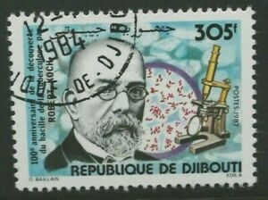 DJIBOUTI 1982 Robert Koch Tubercle Bacillus. Set of 1. Fine USED/CTO. SG842.