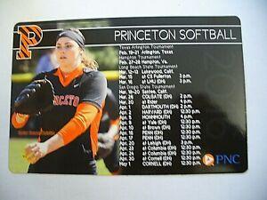 Princeton University 2016 Women's Softball Magnetic Schedule - NEW