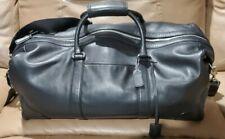Coach Leather Weekender Duffle Bag - Black, Large, Expandable