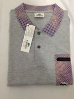 Lacoste Sport Men's Polo Shirt in Grey Top T-Shirt Genuine