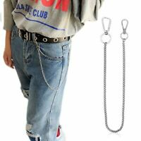 Stainless Steel long 45cm Punk Hip-hop Trendy Belt Waist Chain Male Pants Silver