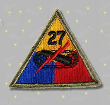 27th Armored Division patch, color, full size, US Army surplus 1955 original