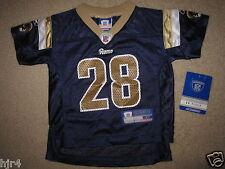 Marshall Faulk #28 St. Louis Rams Reebok NFL Jersey Toddler 2T NEW CUTE