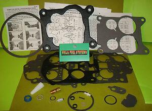 CARBURETOR REBUILD KIT FOR ROCHESTER QUADRAJET MODERN FUELS MANY GM 75-80 LIST