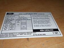 1977 FORD F100 F150 F250 F350 400 ENG EMISSIONS DECAL